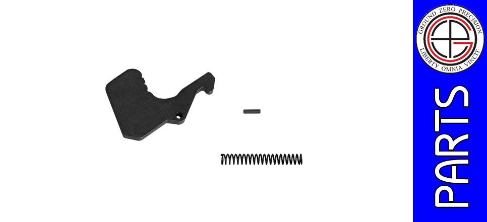 Replacement Mil-Spec AR Charging Handle Latch with Spring & Pin - Steel