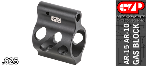 Ground Zero Precision Skeletonized Ultra-Light Low Profile AR Gas Block - .625