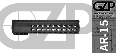 "10"" TAC-HUNTER OCTO Gen 2 Mod 1 Keymod Free-Float AR-15 Hand Guard"