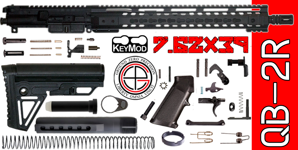 "Quick Build 16"" 7.62 X 39 AR15 Kit with Complete Free-Floated Keymod Upper Receiver"
