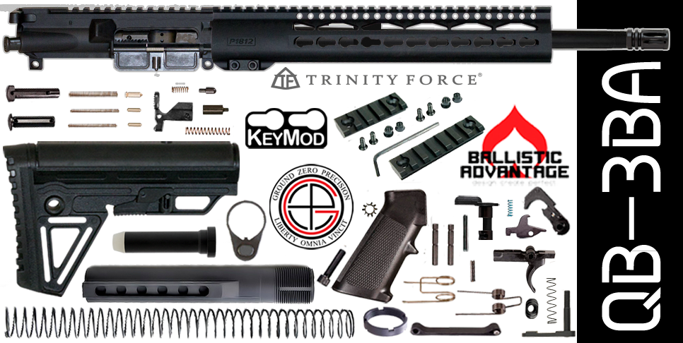 Quick Build Ballistic Advantage 300 Blackout AR15 Kit with Complete Free-Floated Upper Receiver