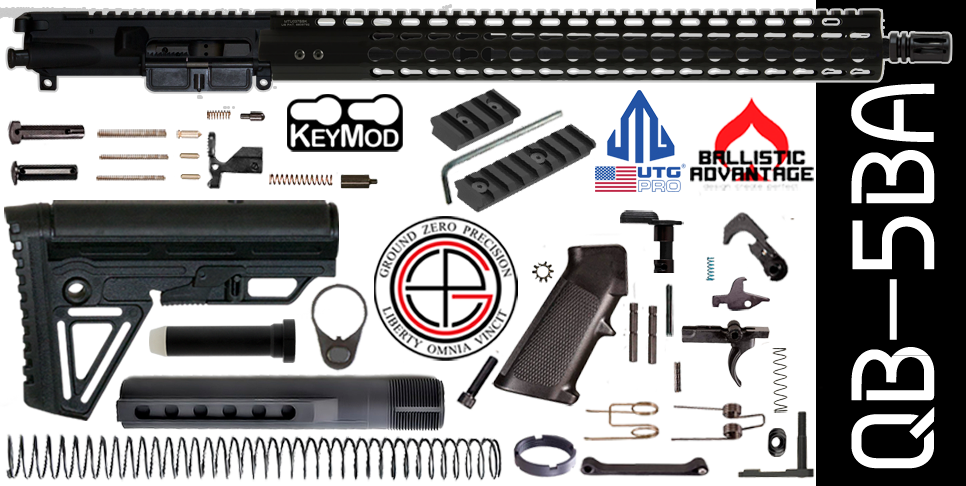 Quick Build Ballistic Advantage 300 Blackout AR15 Kit with Complete Free-Floated Upper Receiver with UTG Super Slim Rail