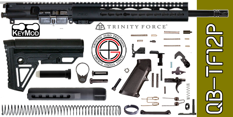 "Quick Build .223 / 5.56 AR15 Kit with Complete 12"" KEYMOD Free-Floated Upper Receiver (QB-TF12P) - FREE SHIPPING"