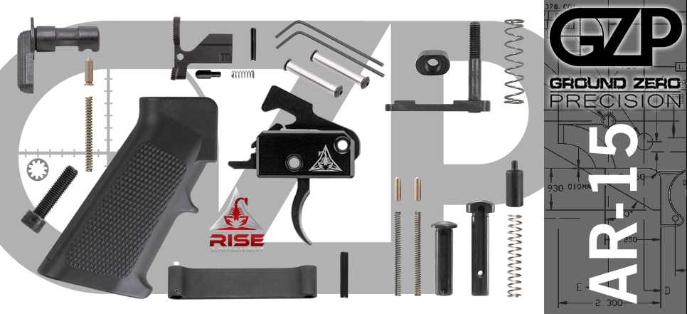 AR-15 Lower Parts Kit with Rise RA-140 Drop-In Trigger