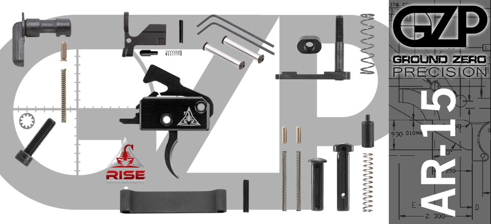 AR 15 Lower Parts Kit with Rise RA-140 SST Drop-In Trigger