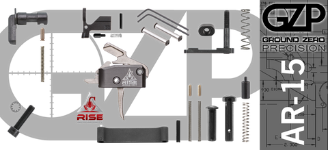 AR-15 Lower Receiver Parts Kit with RISE Armament RA-434 Drop-In Trigger (GZMS15LPK-RA434-1)