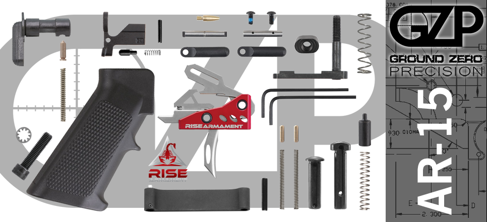 AR 15 Lower Parts Kit with Rise Armament RA-535 APT Trigger