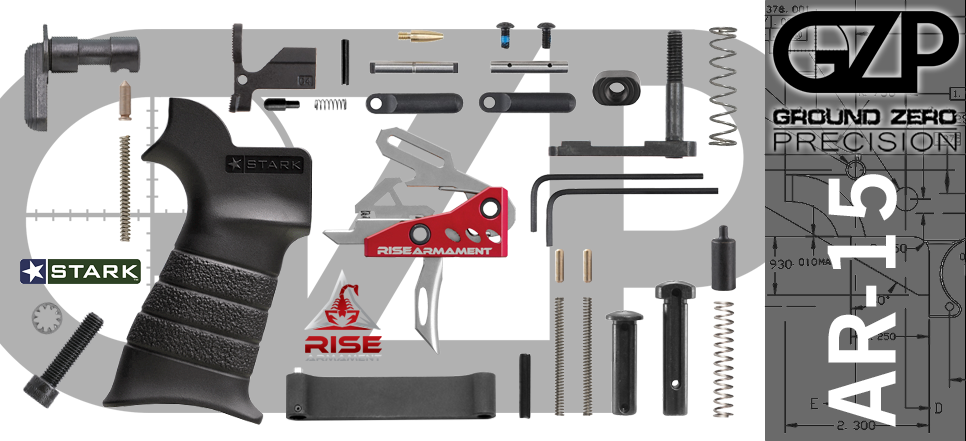 AR 15 Lower Parts Kit with Rise Armament RA-535 APT Trigger Stark ANG