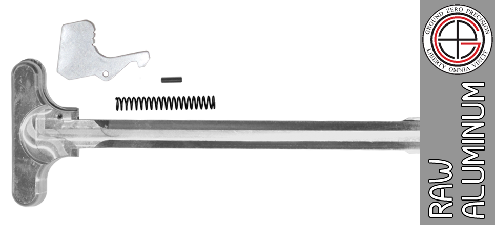 "Bare Aluminum Mil-Spec AR15 Charging Handle Kit - ""In The White"""