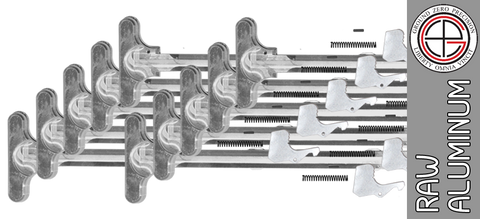 "Bare Aluminum Mil-Spec AR15 Charging Handle Kit - ""In The White"" (10 PACK)"