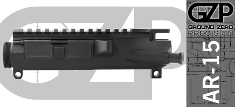 Ground Zero Precision Billet Assembled Left Handed AR-15 Upper Receiver