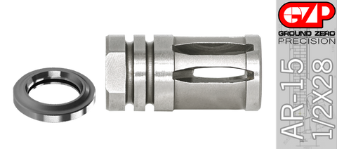 Stainless Steel A2 Muzzle Device - 1/2 X 28