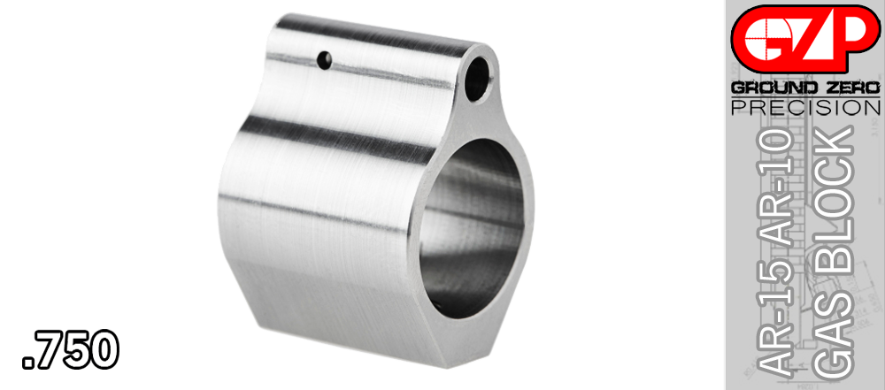 Stainless Low Profile Gas Block