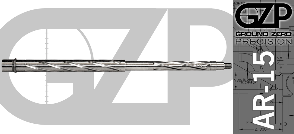 "18"" 416R Stainless Match Grade AR15 Barrel Spiral Fluted"