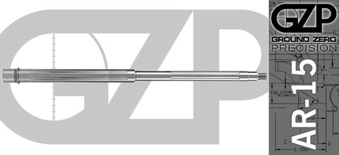 "18"" Match Grade 416R Stainless .223/5.56 Wylde AR-15 Barrel - Straight Fluted"