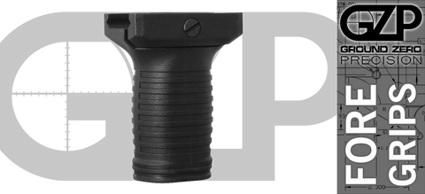Ground Zero Precision Short AR Vertical Foregrip - Black