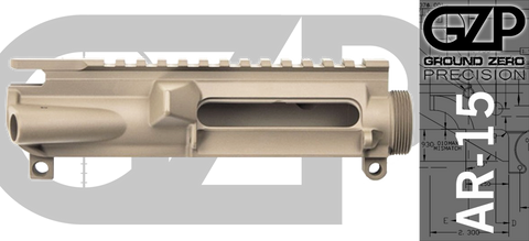 Ground Zero Precision Stripped AR-15 Upper Receiver - FDE