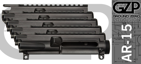 Ground Zero Precision Stripped AR-15 Upper Receiver - 5 Pack