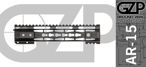 "10"" TAC-HUNTER Gen 2 Mod 1 Keymod Free-Float AR-15 Hand Guard"