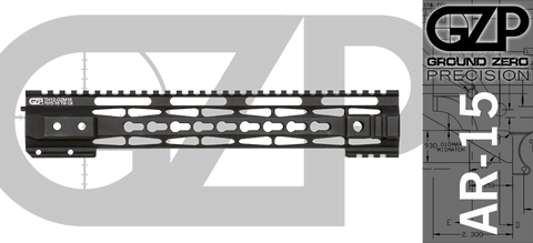 "12.5"" TAC-HUNTER Gen 2 Mod 1 Keymod Free-Float AR-15 Hand Guard"