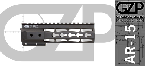 "7"" TAC-HUNTER G2 M2 Free Float AR-15 Handguard - Keymod"