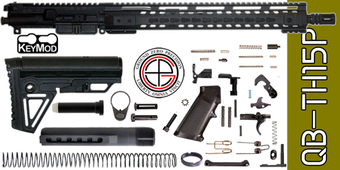 "Quick Build .223 / 5.56 AR-15 Kit with Complete 15"" KEYMOD Free-Floated Upper Receiver (QB-TH15P) - FREE SHIPPING"