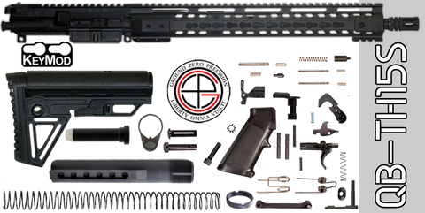 Quick Build Stainless .223 / 5.56 AR-15 Kit with Complete KEYMOD Free-Floated Upper Receiver (QB-TH15S) - FREE SHIPPING