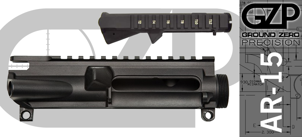 Stripped T-Marked AR15 Upper Receiver