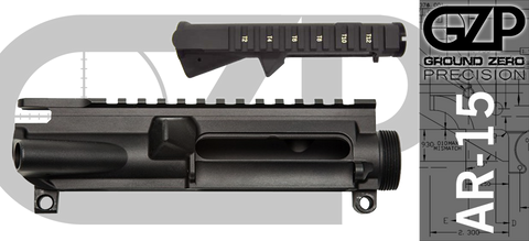 Ground Zero Precision Stripped AR-15 Upper Receiver (T-Marked)