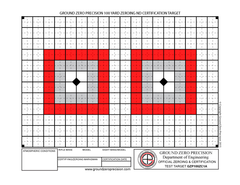 Precision 100 Yard AR-15 Zeroing & Certification Targets
