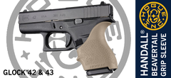 Hogue HandAll® Grip Sleeve for Glock 42, 43 - FDE