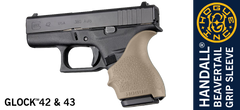 Hogue HandAll Beavertail Grip Sleeve for Glock 42, 43 - FDE