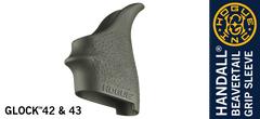 Hogue HandAll Glock 42 43 Grip Sleeve OD Green