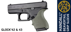 Hogue Glock 42 43 Grip Sleeve OD Green