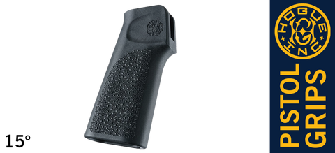 Hogue 15° Vertical AR15 / M16 Grip Without Finger Groove - Black