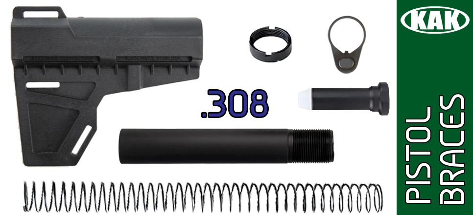 KAK Shockwave Blade AR .308 Pistol Stabilizer KIT - BLACK