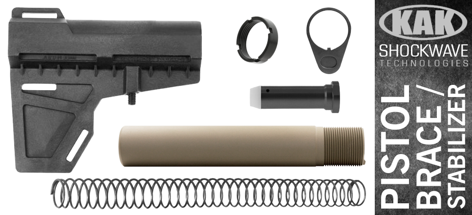 KAK Shockwave Blade AR-10 .308 Pistol Stabilizer KIT - BLACK / FDE