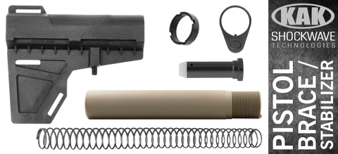 KAK Shockwave Blade AR .308 Pistol Stabilizer KIT - BLACK / FDE