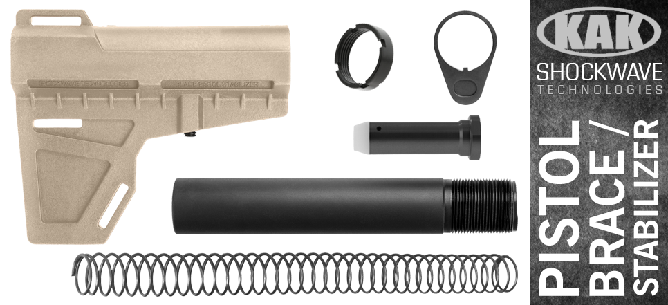 KAK Shockwave Blade AR-10 .308 Pistol Stabilizer KIT - FDE