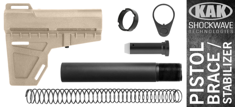 KAK Shockwave Blade AR .308 Pistol Stabilizer KIT - FDE / BLACK