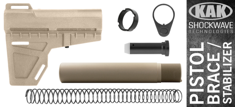 KAK Shockwave Blade AR .308 Pistol Stabilizer KIT - FDE / FDE