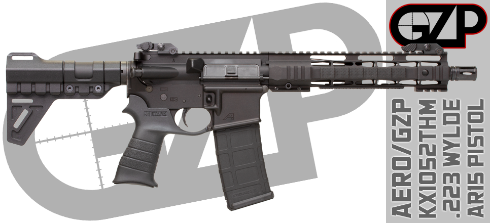 "Aero/GZP KX1052STHM Enhanced 10.5"" 300 Blackout AR15 Pistol"
