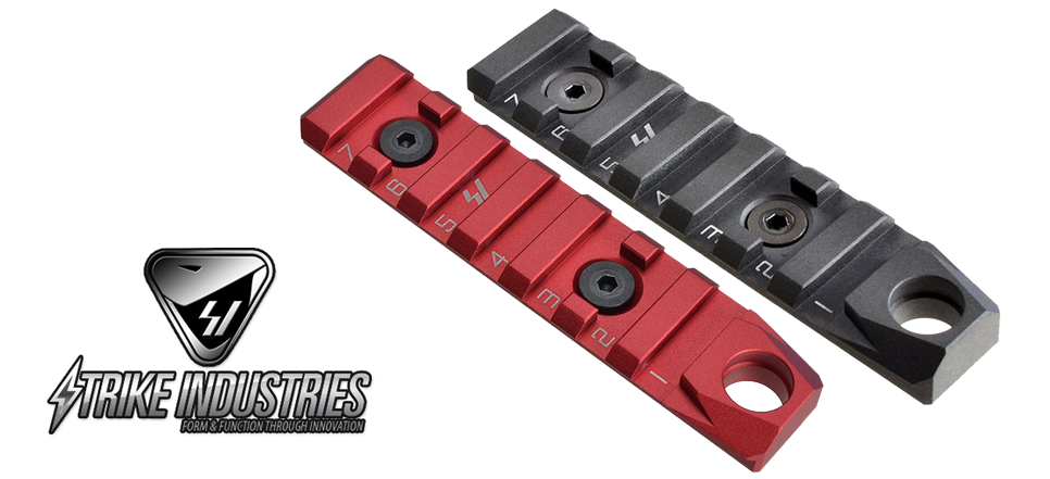 Strike Industries KEYMOD & M-LOK Link Rail Section 7 Slots with QD