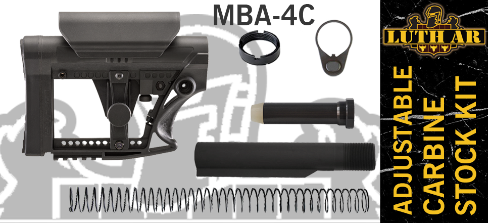 Luth-AR MBA-4 Stock with Cheek Rest Kit - Black