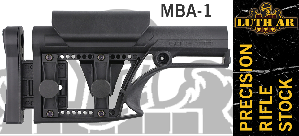 Luth-AR MBA-1 Precision Rifle Stock - Black