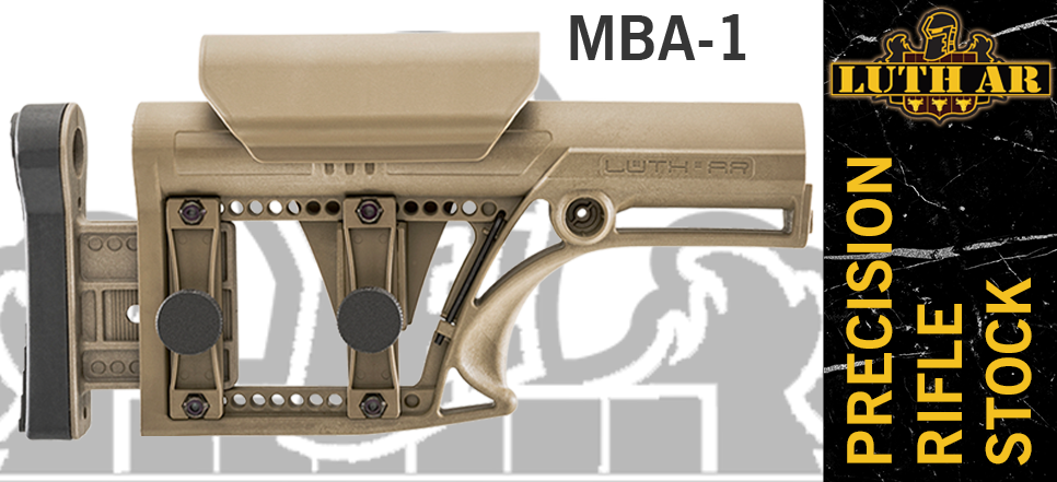 Luth-AR MBA-1 Precision Rifle Stock - FDE