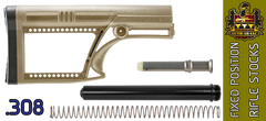 "LUTH-AR MBA-2 ""Skullaton"" Precision AR .308 Rifle Stock Kit - FDE"