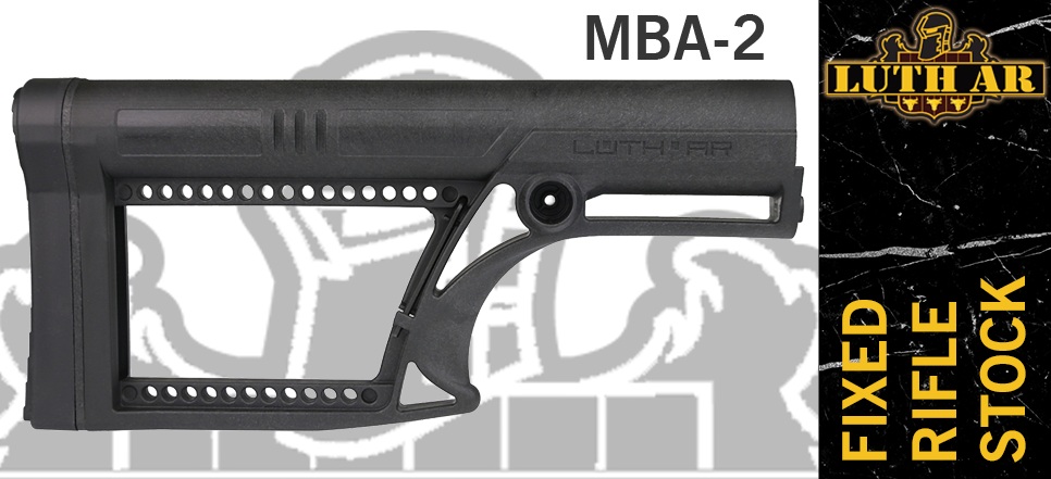 Luth-AR MBA-2 Fixed Rifle Stock Black