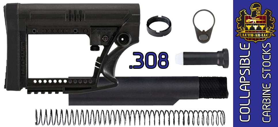 "LUTH-AR MBA-4 ""Skullaton"" Adjustable Carbine AR .308 Stock Kit - Black"