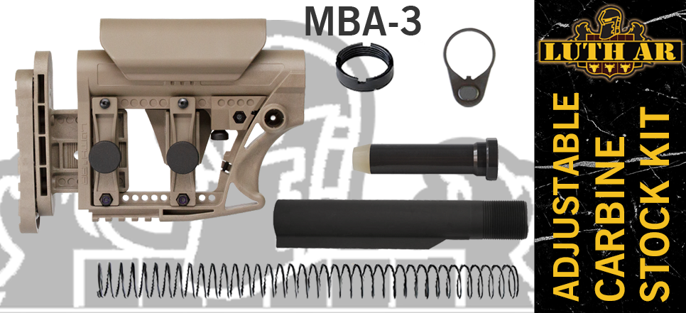 Luth-AR MBA-3 Carbine Stock Kit - FDE